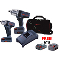 Ingersoll Rand IRC-IQV20-201P Cordless Combo Kit  + 2 FREE 20V Batteries