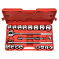 TEKTON MIT-1100 21-pc. 3/4 in. Drive Jumbo Metric Socket Set (19-50mm) from Hanover Tool