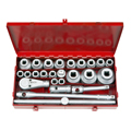 TEKTON MIT-1118 26-pc. 3/4 in. and 1 in. Drive Jumbo 12-pt. SAE Socket Set (15/16 in. to 2-3/4 in.) from Hanover Tool