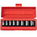 TEKTON MIT-4790 3/8 in. Drive Shallow Impact Socket Set (5/16 in.-3/4 in.) 6-pt. Cr-V from Hanover Tool