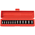 TEKTON MIT-47916 3/8 in. Drive Shallow Impact Socket Set (7-19mm) 12 pt. Cr-V from Hanover Tool