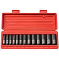 TEKTON MIT-47926 3/8 in. Drive Deep Impact Socket Set (7-19mm) 12 pt. Cr-V from Hanover Tool