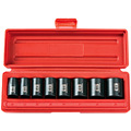 TEKTON MIT-4795 3/8 in. Drive Shallow Impact Socket Set (10-19mm) 6-pt. Cr-V from Hanover Tool