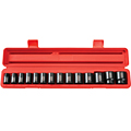 TEKTON MIT-4816 1/2 in. Drive Shallow Impact Socket Set (3/8 in.-1-1/4 in.) 6-pt. Cr-V from Hanover Tool