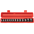 TEKTON MIT-48161 1/2 in. Drive Shallow Impact Socket Set (3/8 in.-1-1/4 in.) 12 pt. Cr-V from Hanover Tool
