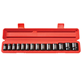 TEKTON MIT-48171 1/2 in. Drive Shallow Impact Socket Set (11-32mm) 12 pt. Cr-V from Hanover Tool