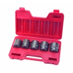 TEKTON MIT-4818 5-pc. 1/2 in. Drive Shallow Jumbo Impact Socket Set (1-3/16 - 1-1/2 in.) Cr-Mo from Hanover Tool
