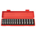 TEKTON MIT-4883 1/2 in. Drive Deep Impact Socket Set (10-24mm) 6 pt. Cr-V from Hanover Tool