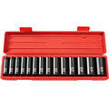 TEKTON MIT-4884 1/2 in. Drive Deep Impact Socket Set (11-32mm) 12 pt. Cr-V from Hanover Tool