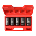 TEKTON MIT-4886 5-pc. 1/2 in. Drive Deep Impact Socket Set (1-3/16 - 1-1/2 in.) Cr-Mo from Hanover Tool