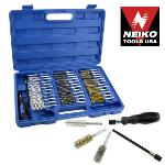 Ridgerock Neiko -00325A 38-pc. Wire Brush Set with Extra Long Reach (8-19mm, 5/16 - 3/4 in.) from Hanover Tool