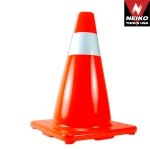 Ridgerock Neiko-53858A 18 in. Orange Safety Cone with 1 Reflective Strip from Hanover Tool