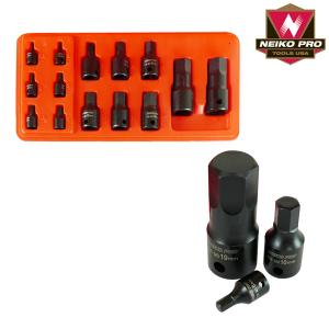 Ridgerock Neiko-01141B 4-pc. Impact Hex Socket Set (Metric) from Hanover Tool