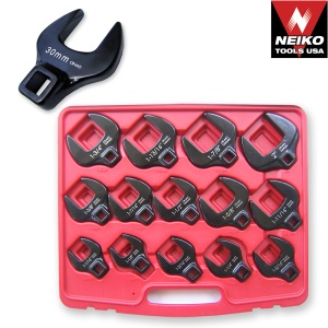 Ridgerock Neiko-03326A 14-pc. 1/2 in. Drive Jumbo Crowfoot Wrench Set (27-50mm) from Hanover Tool